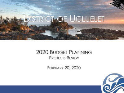2020 Budget Planning Meeting 20 February 2020