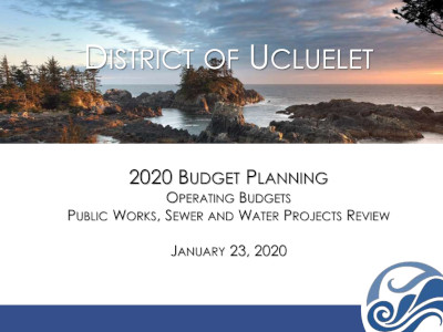 2020 Budget Planning Meeting 23 January 2020