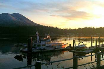 Ucluelet sunset scene